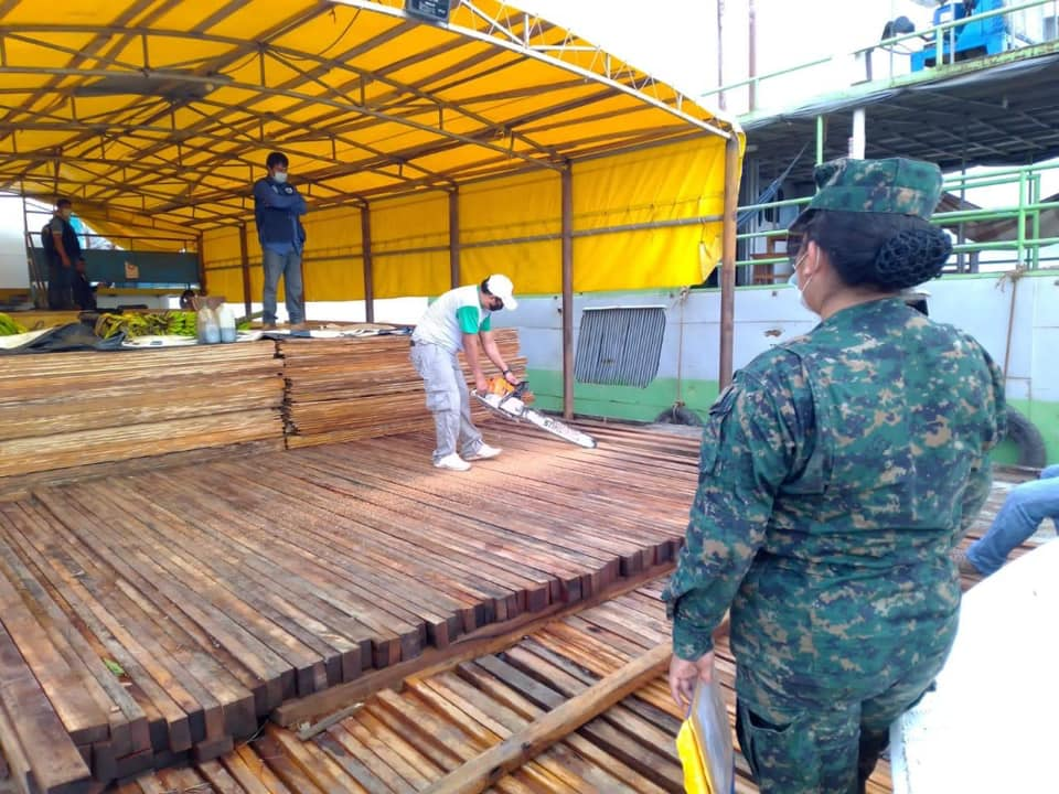 16m3 of Capirona and Bolaina lumber seized near San Martin