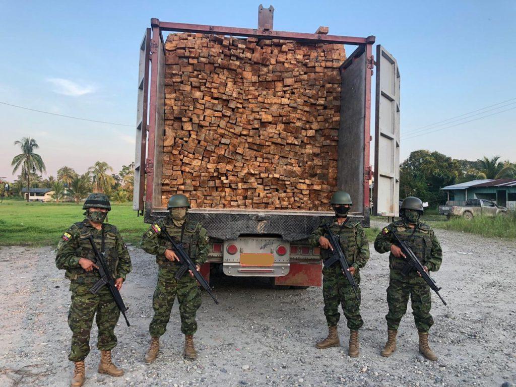 45 m3 of Balsa wood seized in Tierras Orientales