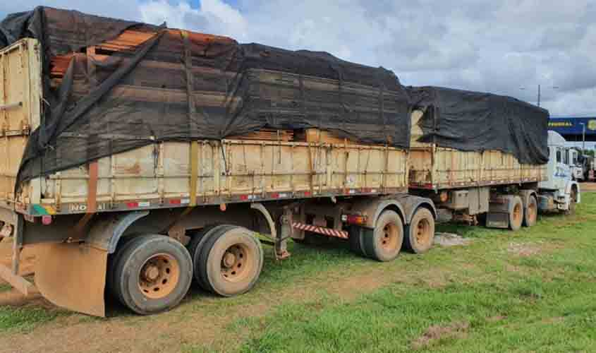45m3 of illegal lumber seized in Ariquemes