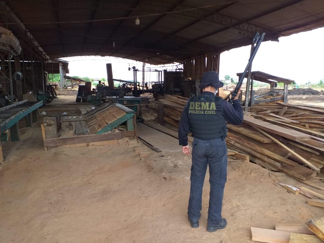 Alleged illegal sawmill closed in Santa Carmem