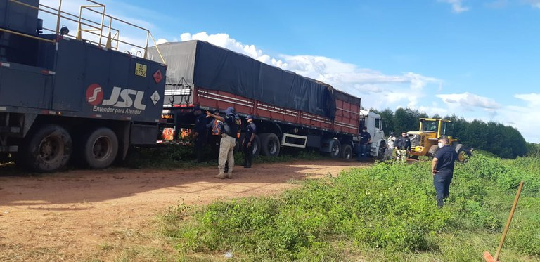7 truckloads containing illegal lumber seized by police in Imperatriz