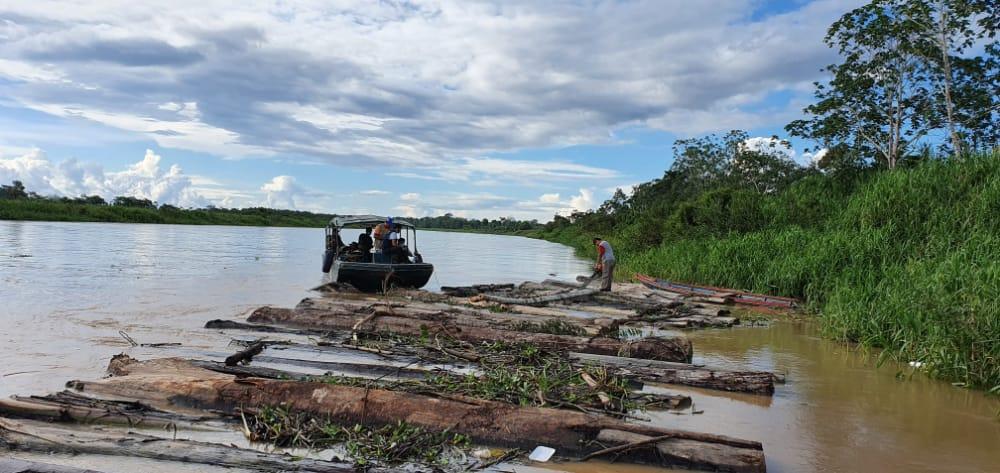 124m3 of logs seized in timber raft near Santa Elisa