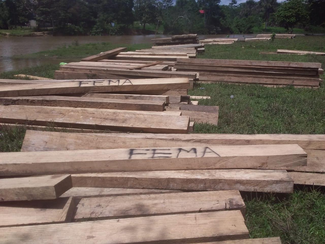 33 m3 of Cumala, Cupaiba, and Lupuna lumber seized in San Juan de Zapote